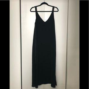 Zara Basic collection Black Flowy maxi dress